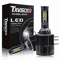 H15 LEDヘッドライト 車用 電球 車検対応 COBチップ 11000Lm 6000K 超高輝度 一体型 変換キット 冷却ファン内蔵 ドライブ