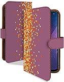 らくらくスマートフォン3 F-06F ケース 手帳型 キンモクセイ パープル 花柄 はながら スマホケース ラクスマ3 ラクラクフォン ラクラクホン 楽スマ3 手帳 カバー ラクスマ3 f06f f06fケース f06fカバー フラワー 花 シンプル 小花柄 [キンモクセイ パープル/t0017e]