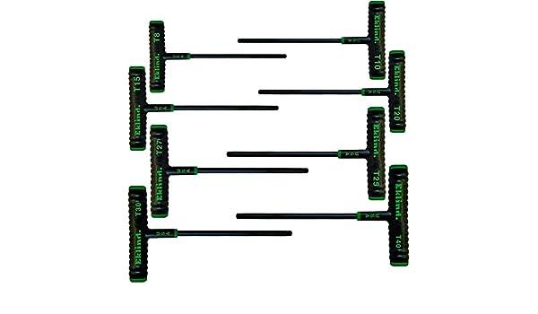 """Eklind 68688 8 Piece 6/"""" Power T T-Handle Torx Key Set with Pouch"""