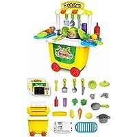 ままごと セット キッチン 31点 コンパクトで収納可能 Bajoy ままごと ごっこ遊び 食べ物 食器 食材セット 男の子 女の子 知育玩具 子どもの誕生日プレゼント 入園お祝い