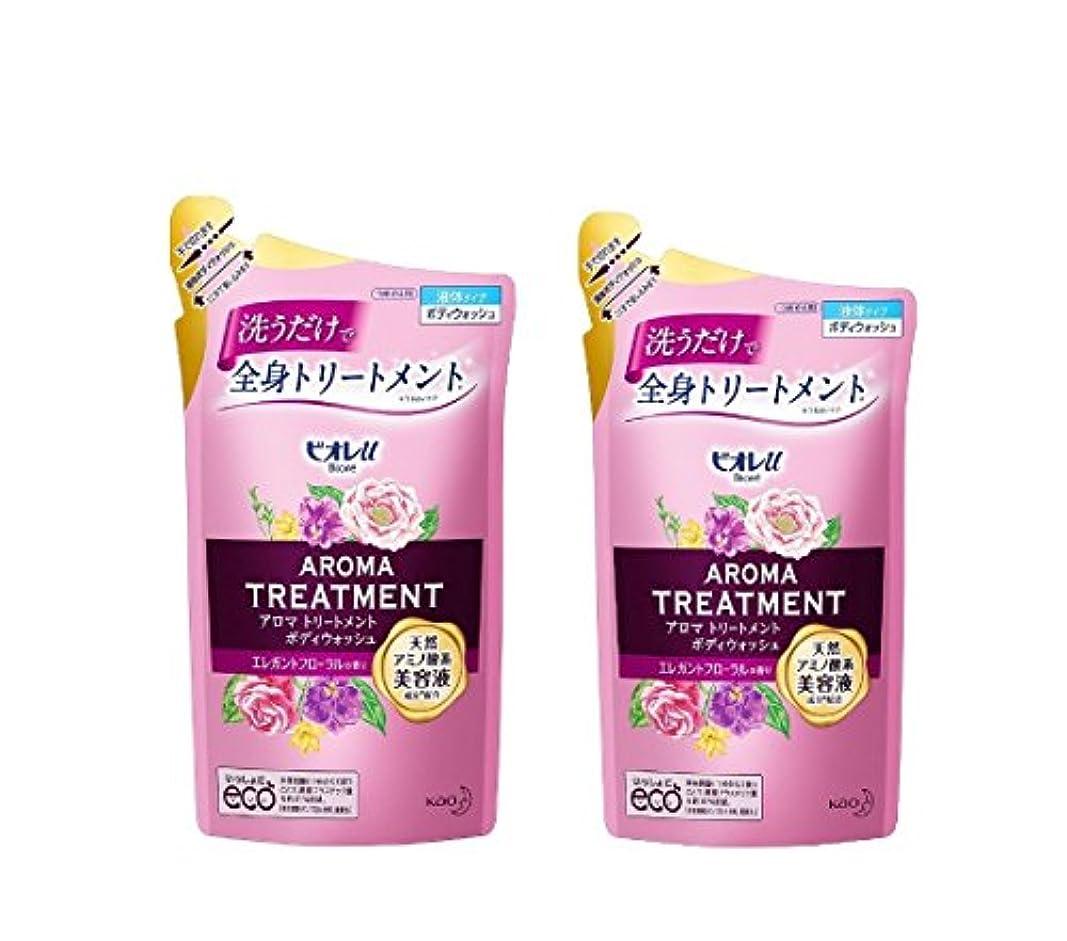 カルシウムカッター化粧ビオレu アロマ トリートメント ボディウォッシュエレガントフローラルの香り 詰替340ml×2個