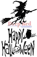 """Deep Red Cling Stamp 2""""X3""""-Halloween Witch (並行輸入品)"""
