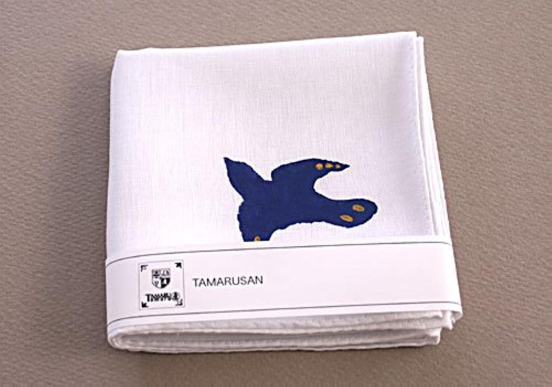 タマルサン(TAMARUSAN)鳥のハンカチ(金)