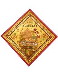 zeestar祖先Incense用紙/Joss用紙ハイグレードカラフルwithゴールドの箔の祖先Praying 7.6インチx 7.6インチ、40個