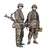 アルパインミニチュア 1/35 ドイツ軍 SS第12HJ師団所属 MG射撃チーム 2体セット レジンキット AM35268
