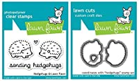 Lawn Fawn Hedgehugs Clear Stamp and Die Set [並行輸入品]