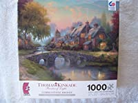 "Thomas Kinkade""Cobblestone Bridge"" 1000 Pc Puzzle"