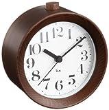 Lemnos RIKI ALARM CLOCK アラーム時計 ブラウン WR09-15 BW