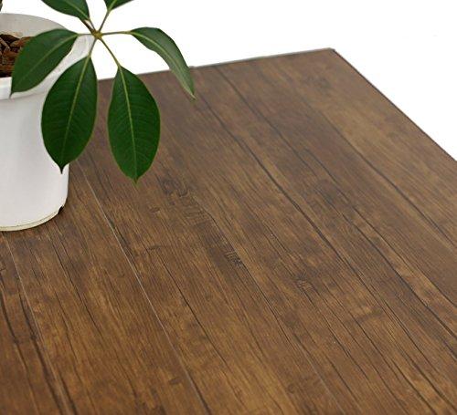 ハリーイージーデコタイル フロアタイル シール式 木目柄 置くだけ 簡単 42枚セット(約6.3平米)  ダーク ブラウン ウッド