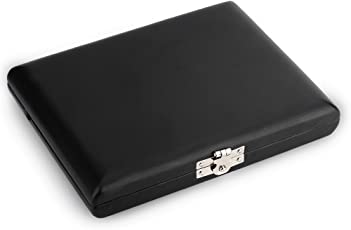サクソフォン・クラリネット・サックス リード 葦 ケース PUレザー 木製 6枚入 カラー:ブラック