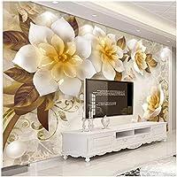 Xbwy 写真壁紙3Dステレオ花レトロリビングルームテレビソファ背景壁画-350X250Cm