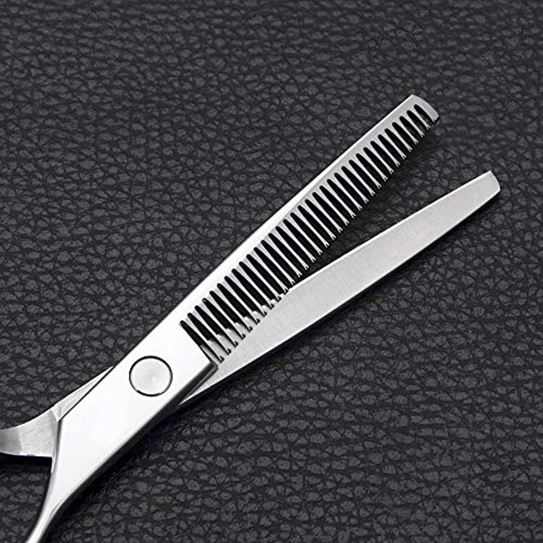お酢排他的崖6インチの理髪はさみ、ステンレス鋼の歯はさみをはさみます モデリングツール (色 : Silver)