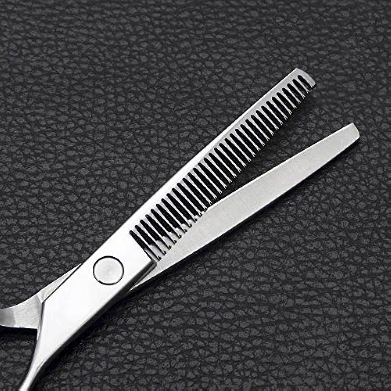 パーク殺す契約する理髪用はさみ 6インチの理髪はさみ、ステンレス鋼の歯はさみ毛の切断はさみステンレス理髪はさみ (色 : Silver)
