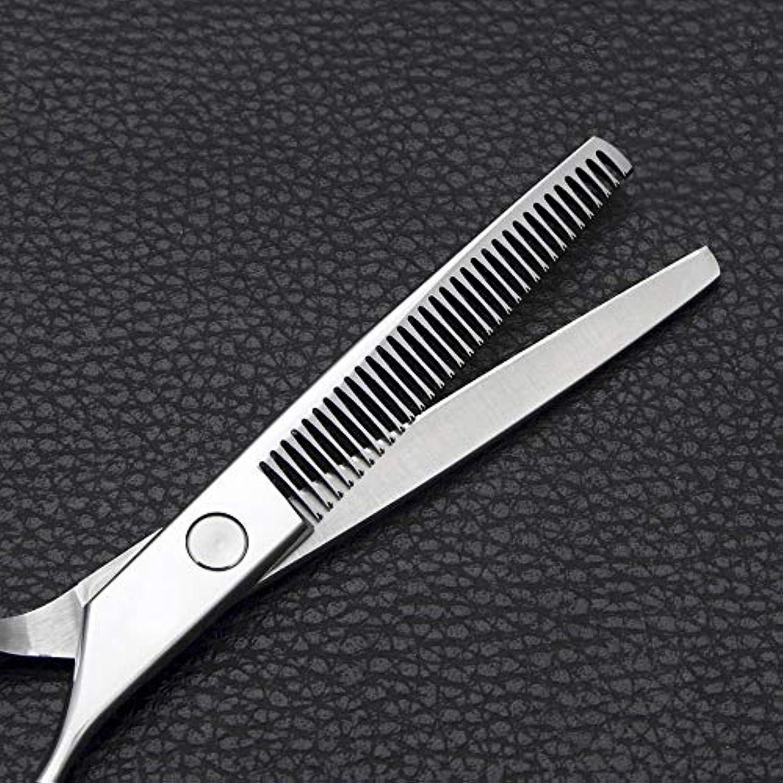 Goodsok-jp 6インチの理髪はさみのステンレス鋼の歯のせん断用具 (色 : Silver)