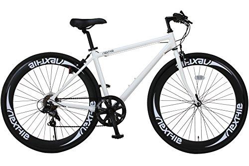 Nextyle(ネクスタイル) 700Cクロスバイク アルミフレーム シマノ7段変速 ディープリム 前輪クリックリリースNEXTYLE CNX-7006 ホワイト 21272