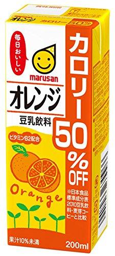 マルサン 豆乳飲料オレンジカロリー50%オフ 200ml×24本