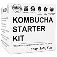 Get Kombucha, Organic Kombucha Starter Kit, 6.5 Organic Scoby, Largest Culture In North America For 9 Straight Years, 5 Gallon Tea Supply Makes 80 Bottles of Kombucha by Get Kombucha