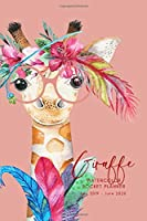 Giraffe Watercolor Pocket Planner July 2019- June 2020: School Student Daily Planner; Small Mini Calendar To Fit Purse & Pocket; Ultra Portable Slim Academic Monthly & Weekly Goals Journal Organizer With Motivational Quotes