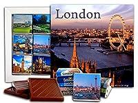 DA CHOCOLATE キャンディスーベニア ロンドン チョコレートギフトセット 13x13cm 1箱 (日没)