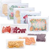 Reusable Storage Bags 10 Pack, FDA Food Grade Ziplock Lunch Bags, Leakproof Freezer Bag for Snacks, Fruits, Sandwiches, Make