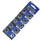 TIANQIU AG12ボタン電池 アルカリ LR43 CX186 386A 互換品 10個セット