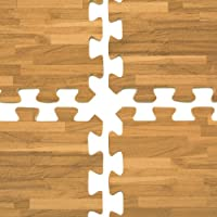 displays2go酷使フロアマットwith wood-grainパターン、10x 10床のカバー、Evaフォーム抗疲労サーフェスPerfect for Trade Show Booths (tsfm10dov2)