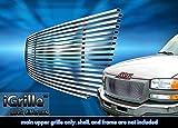 ステンレススチールegrilleビレットグリルグリル03–06GMCシエラ1500/ 2500hd / 3500挿入