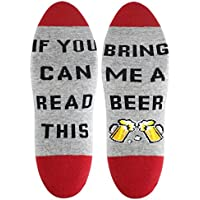 If You Can Read This Funny Saying Knitting Word Ankle Socks Womens Combed Cotton Taco Beer Coffee Wine Socks