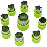 LENK Vegetable Cutter Shapes Set,Mini Pie,Fruit and Cookie Stamps Mold,Cookie Cutter Decorative Food,for Kids Baking and Food