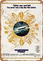 Shimaier 壁の装飾 メタルサイン 1971 Vanishing Point ウォールアート バー カフェ 縦20×横30cm ヴィンテージ風 メタルプレート ブリキ 看板