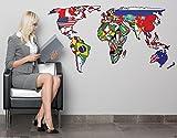 ウォールステッカー 世界地図 サイズL