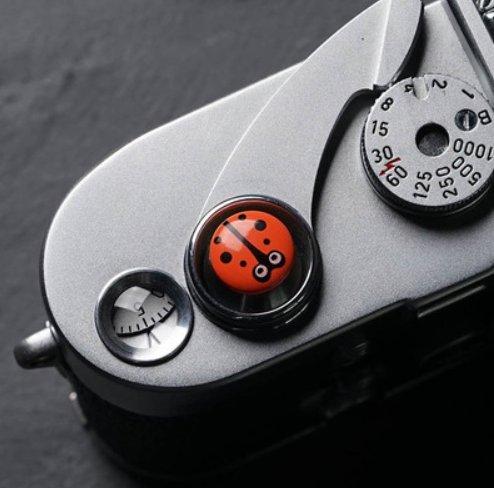 GotorR ねじ込み式 M X100F XPRO2 カメラ 対応交換用 レリーズボタン / シャッターボタン 可愛い (オレンジ)