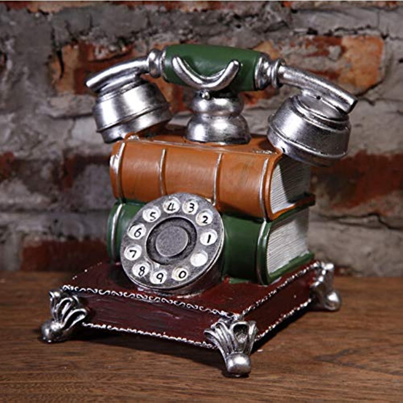 Jhcpca クリエイティブディスプレイアクセサリーアンティークレトロ電話モデルピギーバンク。 (Color : Multicolor2)