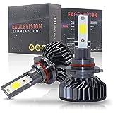 GZCRDZ 2個セット LEDヘッドライト電球ハイビーム変換キット、60W 6000LM 6500K ヘッドライト、60xDOBチップス採用、 ホワイト (9005 HB3)