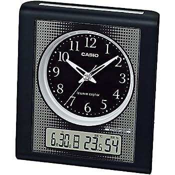 CASIO (カシオ) 温度湿度計付き電波アナログ目覚まし時計 ブラック TQT-351NJ-1JF