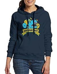 大人 女の子 ポケット パーカー スウェットパーカー 誕生日 男の子 恐竜 ラプター スウェット プルオーバー フィットネス ファッション Navy