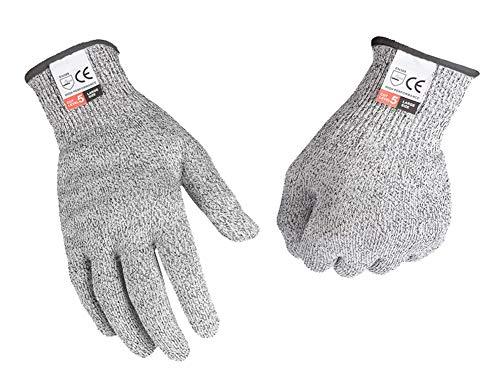 軍手 切れない 防刃 手袋 作業用 工具 耐切創 diy 手袋 料理用 防災用品 安全防護 (Mサイズ)