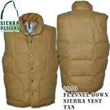 Flannel Down Sierra Vest 9980: Tan