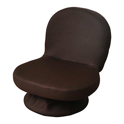 山善(YAMAZEN) 回転式あぐら座椅子(背もたれ付) ダークブラウン SAGR-45(WDB)