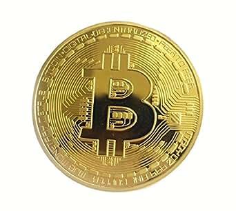 トゥルー・ハート【ビットコイン型 メダル 金メッキ 】直径4cm/記念コイン/仮想通貨/縁起物になるかも! TZAK-152