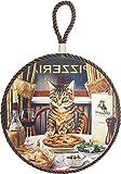ダイカイ トリベット ディナーをする猫 ブラウン φ16×D0.8×TH25cm 51301