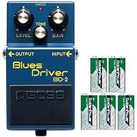 BOSS コンパクトエフェクター ギターのボリュームや、ピッキング・ニュアンスで、クリーンから心地よい圧縮感のサスティンまで表現。 +9Vマンガン電池5個付き BD-2(Blues Driver)