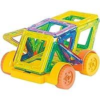 QXMEI 子供用 おもちゃ 子供用 積み木 ミニ マグネット式 子供用 マグネット式 組み立てブロック 玩具 組み立て製品 サイズ:13.8インチ 8.7インチ 1.8インチ