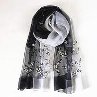 JERPOZ 12ミミスカーフシルク刺繍野生のスカーフ日焼け止め暖かい装飾的な頭飾りショールラップボディ (Color : I)