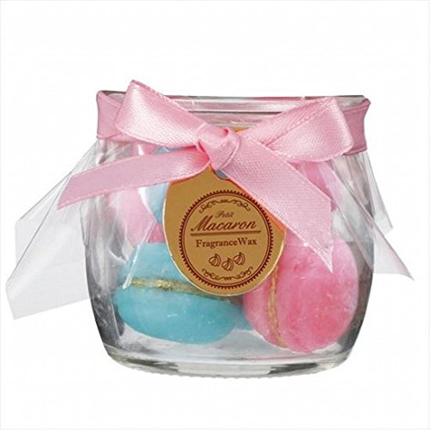 百年発明靴sweets candle(スイーツキャンドル) プチマカロンフレグランス 「 ピーチ 」 キャンドル 60x60x56mm (A3160540)