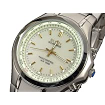 【ELGIN エルジン】時刻合せと電池交換不要のソーラー電波腕時計 FK1291S-BRP