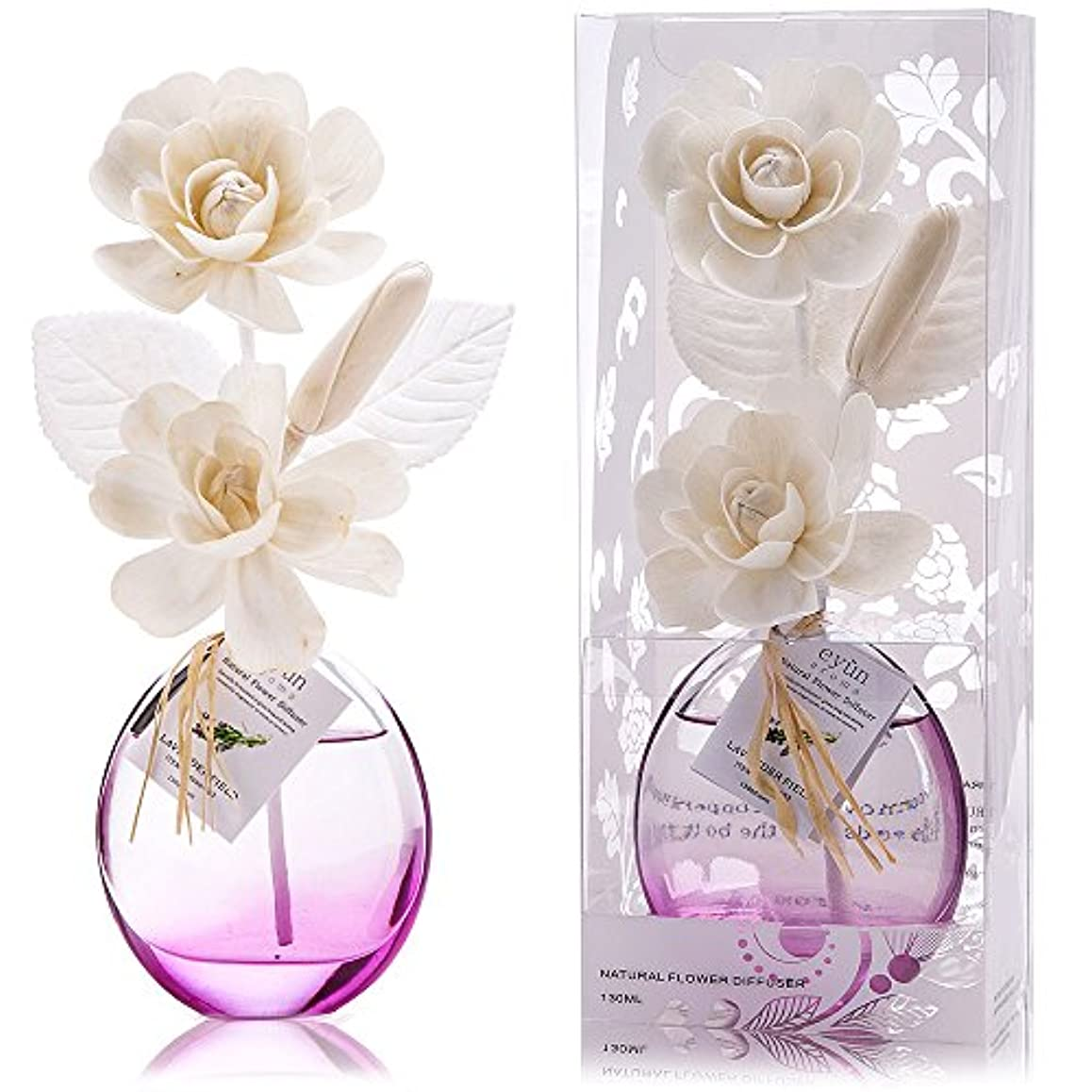 保全干ばつ縞模様の誕生日 プレゼント に A03 ルームフレグランス (花瓶:紫、香り:ラベンダー)