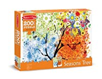 Melissa & Doug SeasonsツリーCardboard Jigsaw Puzzle 8974