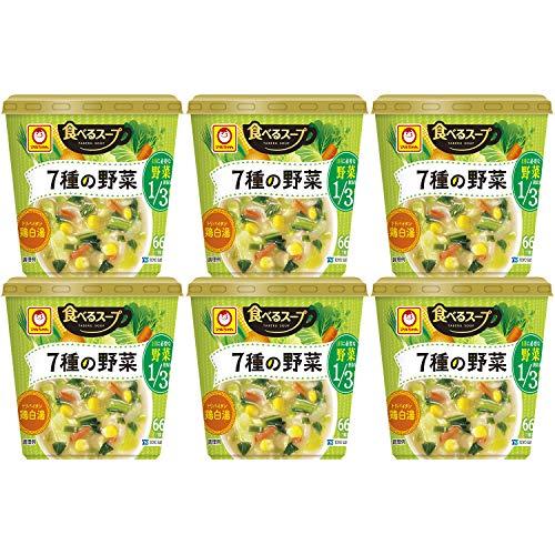 東洋水産 食べるスープ 7種野菜 鶏白湯 12個