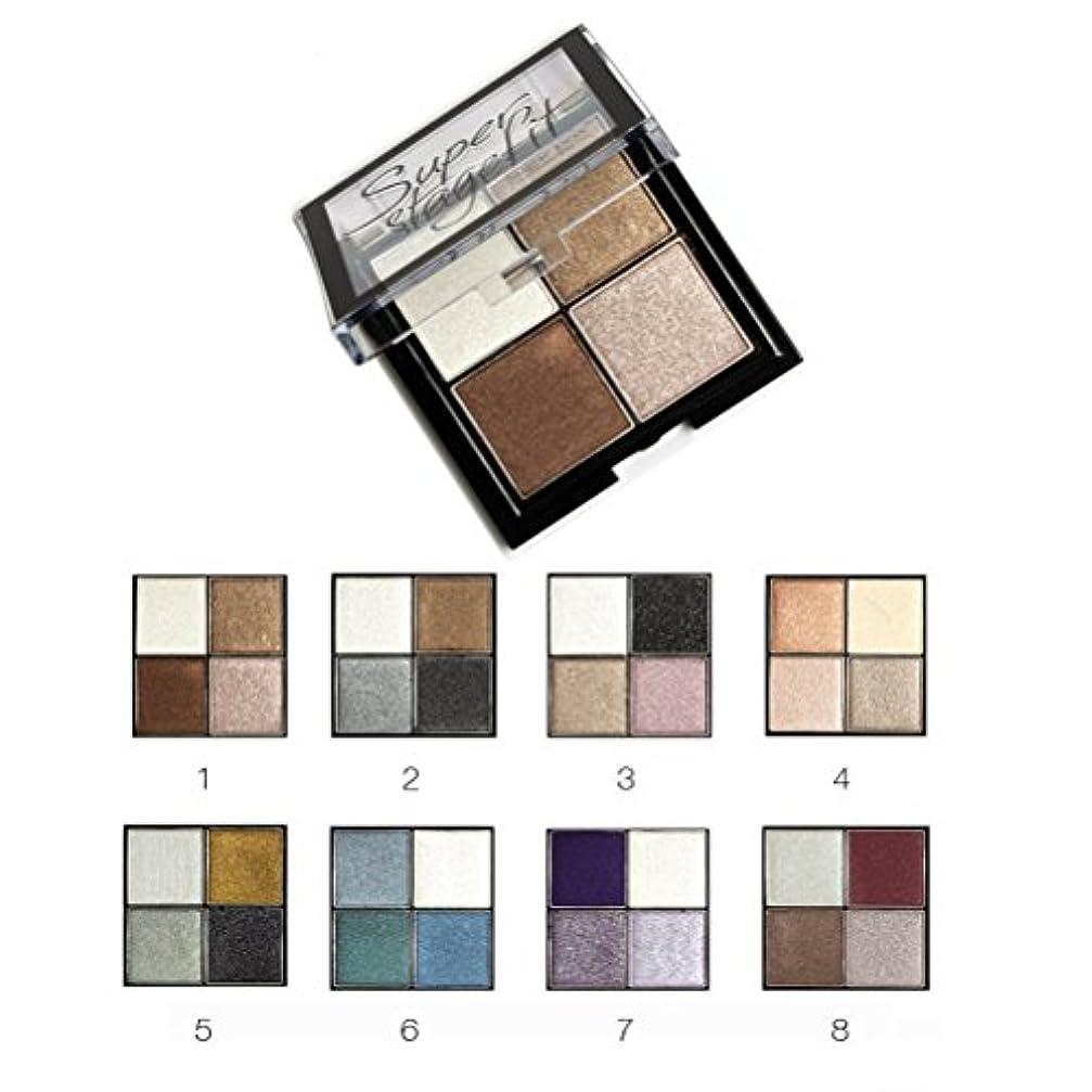 ステーキ一定応用MakeupAcc アイシャドウパレット 4色 ブラシ?鏡付き 8シリーズオプション ラメ マット  (01) [並行輸入品]